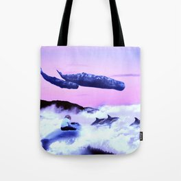 Whale migration Tote Bag