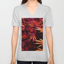 Fiery Pit of Cannabis Unisex V-Neck