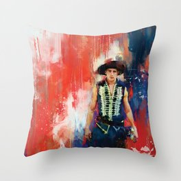 The Masked Bandit Throw Pillow