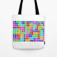 tetris Tote Bags featuring Tetris by MarioGuti
