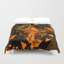 golden geometry Duvet Cover