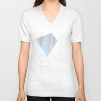 crystal V-neck T-shirts featuring CRYSTAL? by Halo Jones