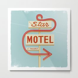Star Motel Metal Print