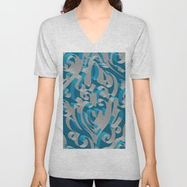 3D Abstract Ornamental Background II Unisex V-Neck