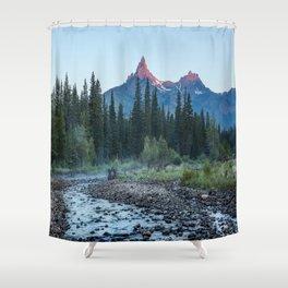 Pilot Peak - Mountain Scenery at Sunrise in Northeastern Yellowstone Shower Curtain