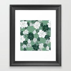 Desert Garden Framed Art Print