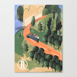 Road Trip in Tuscany Countryside Canvas Print