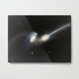 Galaxy merger Metal Print