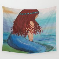 marina Wall Tapestries featuring Marina by Ashalika