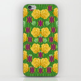 roses dancing on a tulip field of festive colors iPhone Skin