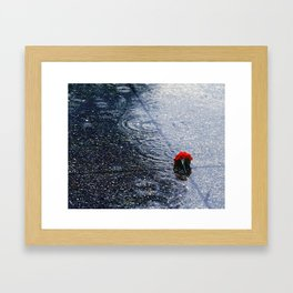 Dropped in the Rain Framed Art Print