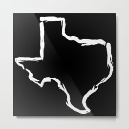 Best. State. Ever. (in white) Metal Print