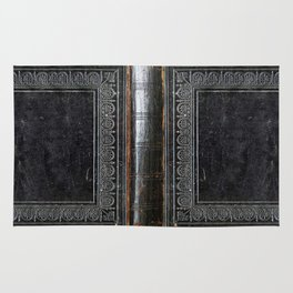 Black Antique Book Rug