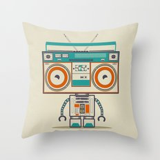 Music robot Throw Pillow