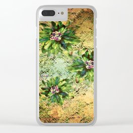 Green Flowers of the Grandmother Garden! Clear iPhone Case