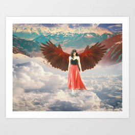 Lady of the Clouds Art Print