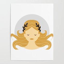Virgo Zodiac Sign Symbol: The Maiden Poster