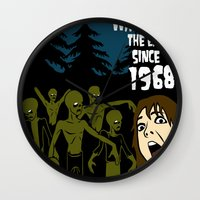 the walking dead Wall Clocks featuring Walking Dead by grawiton