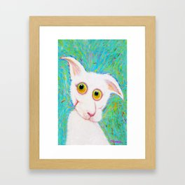 Big White Framed Art Print