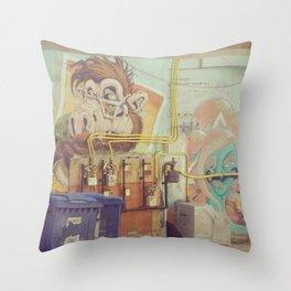 Urban Graffiti Throw Pillow