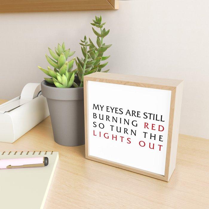 Lights Out Framed Mini Art Print