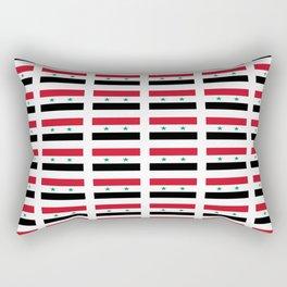 flag of syria -syrian,aleppo,damascus,assyrian,سوريا Rectangular Pillow