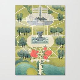 Vigeland Park Canvas Print