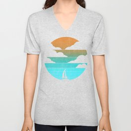 Go West (sail away in my boat) Unisex V-Neck
