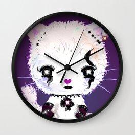 Punky Persian - Dark Purple Wall Clock