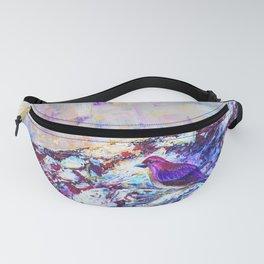 Purple Finch Fanny Pack