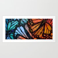 wings Art Prints featuring Wings by S.G. DeCarlo