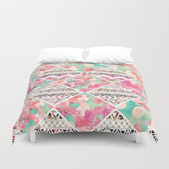 Aztec Floral  Diamond Duvet Cover