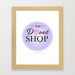 The Donut Shop Framed Art Print