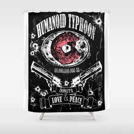 Humanoid Typhoon Shower Curtain