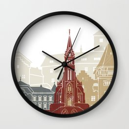 Vaduz skyline poster Wall Clock