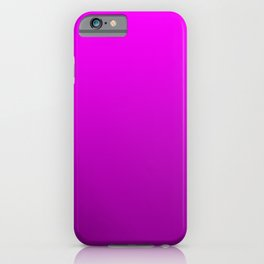 Modern Bright to Dark Magenta Ombre iPhone Case