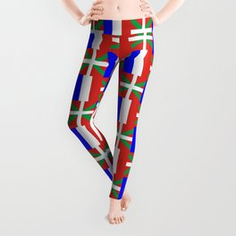 mix of flag: France and euskal herria Leggings