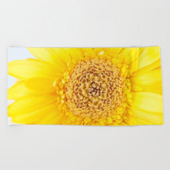 Sunny Summer Love - Yellow Gerbera #1 #decor #art #society6 Beach Towel