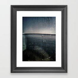 Abstract  blue Framed Art Print