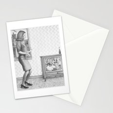 girl in a 2017 america Stationery Cards