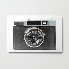 Vintage photo camera Metal Print