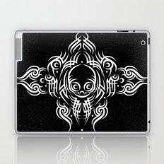 Alien Tribal Tattoo - white Laptop & iPad Skin
