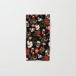 Floral and Skull Dark Pattern Hand & Bath Towel