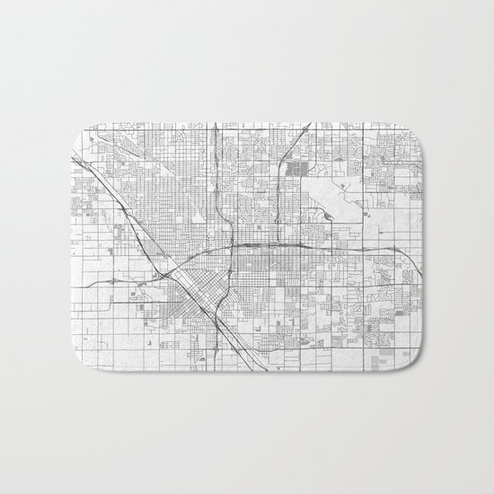 Fresno Map Line Bath Mat