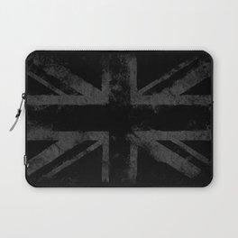 Grey Grunge UK flag Laptop Sleeve