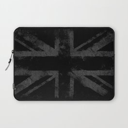 Grey Grunge UK flag Laptop Sleeve