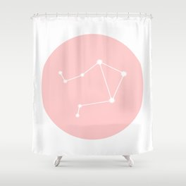 Libra Star Sign Soft Pink Circle Shower Curtain