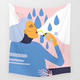 Drink Up Wall Tapestry
