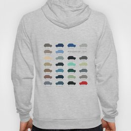 Austin Mini classic 60's colours  Hoody