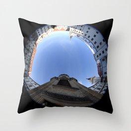 Wendelstein im Schloss Hartenfels Torgau Farbfotografie Winter 2012 Throw Pillow